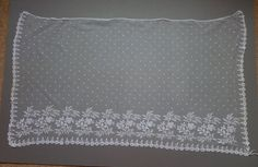 A rare early 19th c Brussels bobbinlace bonnet veil applique on droschel ground from the 8/16/2015 Ebay Alerts.