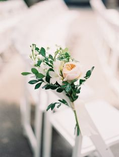 #garden-rose, #white  Photography: When He Found Her, Reid Lambshead - www.whenhefoundher.com  Read More: http://www.stylemepretty.com/2015/04/28/elegant-colorful-lakeside-wedding/