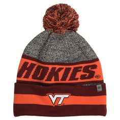 1fd37d2bb17 Top Of The World Virginia Tech Hokies College Cumulus Knit Beanie Hat -  CUMUVIT TMC