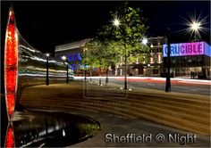 Sheffield at Night by jacqsallott.deviantart.com www.jacqs.co.uk