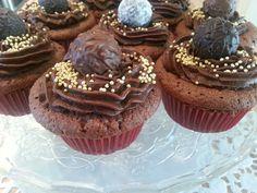 Chocolate cupcakes with chocolate truffles