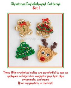 Crochet Christmas Embellishment Patterns