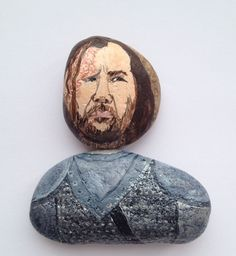The Hound Sandor Clegane fridge magnet, painted on stones