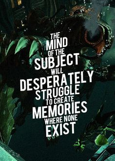 Bioshock Infinite | the mind of the subject will desperately struggle to create memories where none exist