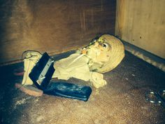 Found this doll in one of the abandoned houses in a ghosttown called Doel