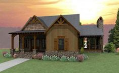 Cottage House Plans have become very popular due to a changing economy. When we design a cottage house plan we try to create the feeling of living. Dog Trot House Plans, Porch House Plans, Rustic House Plans, Basement House Plans, Lake House Plans, Mountain House Plans, Mountain Cottage, Walkout Basement, Basement Layout