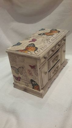 Jewellery box chest of drawers vintage jewelry box hand