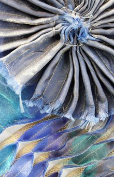 Fabric Manipulation Techniques, Textiles Techniques, Jellyfish Light, Pink Jellyfish, Textile Fiber Art, Textile Artists, Crochet Lamp, A Level Textiles, Fashion Vector