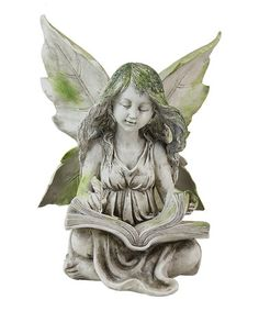 a gift idea Sitting Garden Fairy Weathered Green