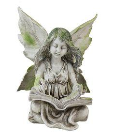 Look what I found on #zulily! Reading Fairy Garden Statue by Exhart #zulilyfinds