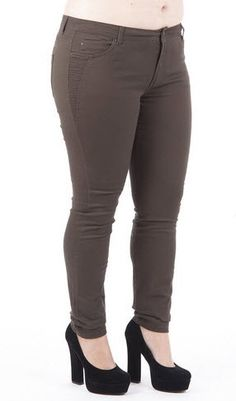 Casual Skinny Trousers via Plus Size Online Clothing Store. Click on the image to see more!