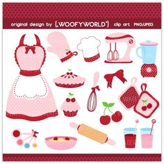 Kitchen Diva Pink Cherry - Personal and Commercial Use digital clip art… Diy Tie Dye Techniques, Recipe Scrapbook, Paper Weaving, Stencil Patterns, Felt Christmas, Scrapbook Paper Crafts, Painting On Wood, Paper Dolls, Mini Albums