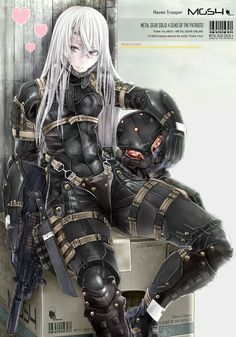 This HD wallpaper is about white Hair female anime illustration, Metal Gear Solid, Metal Gear Solid Original wallpaper dimensions is file size is Fantasy Anime, Fantasy Girl, Metal Gear Solid, Cry Anime, Anime Art, Metal Gear Online, Character Inspiration, Character Art, Akali League Of Legends