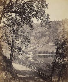 View of Mallital, Nainital  Samuel Bourne  1865