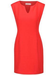 Červené puzdrové šaty Lavand