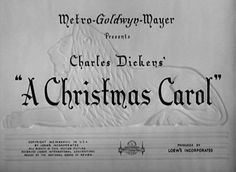 A CHRISTMAS CAROL (1938) movie title #Christmas #christmasmovies #typography
