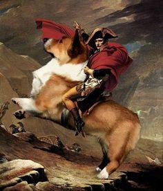 Napoleon on his majestic steed