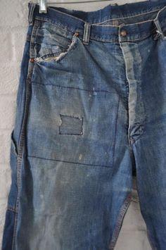 Cruella Costume, Denim Jeans Men, Skirt Suit, Work Pants, Vintage Denim, 1940s, Work Wear, Looks Great, 42 Inch
