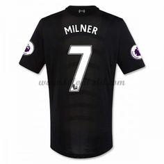 Billige Fodboldtrøjer Liverpool 2016-17 Milner 7 Kortærmet Udebanetrøje