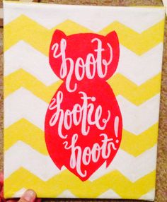 """Change it to """"hoot hoot you're cute"""" chi omega"""