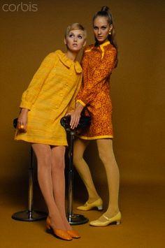 1967 Two Models in Minidresses