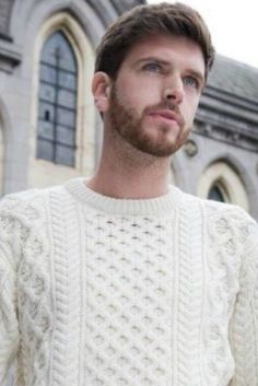 This Heavyweight Merino Aran Sweater features the traditional Aran Cable Knit Pattern, distinctively knit to define the pattern. The traditional Aran Sweater also called the fisherman's sweater is the perfect choice for a Man or Women that appreciates the quality of a traditional Aran but suits a more fitted style.
