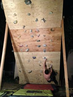 DIY Yard Climbing Wall