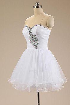 5fa9d61ca4da Customized Easy Cheap Wedding Dresses, White Party Dresses, Short Wedding  Dresses