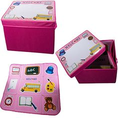 Pink Children Play Mat And Storage Box 2-in-1 >>> Visit the image link more details.