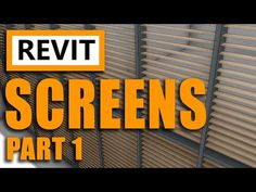 Learn Revit and how to use the Curtain Wall tool to model Louver / Louvre Screens very accurate, fast and easy, and perfect for your model, drawings, elevati. Learn Revit, Flat Roof, Frames On Wall, In The Heights, Louvre, Architecture Design, Tutorials, Youtube, Architecture Layout