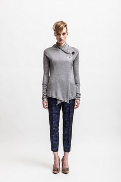 Knitted cashmere silk blend women's cross front by CodeTricot, €109.00
