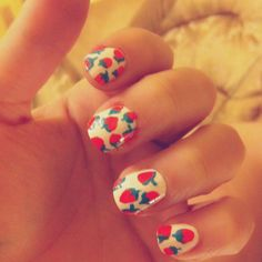 Other shape of my strawberry nails