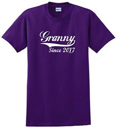 New Grandma Tshirt New Grandma T-Shirts Mother's Day Gifts for Granny Since 2017 T-Shirt 2XL Prpl - Brought to you by Avarsha.com