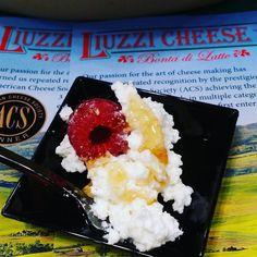 #liuzzicheese #ricotta #raspberry #honey #foodieblogger #fancyfoodshow2016 #jacobjavitscenter #insta_food #italy #eeeeeeats #yummy #newyork_instagram #newyork_ig #travelfood #travelawesome #sunday #theweeknd