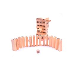 54pcs Wooden Blocks with Dice Jenga Game for Kids Classical Number Learning Educational Toy Set Gift for Kids