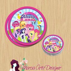 Etiqueta latinha My Little Pony