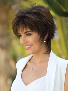 Millie by Noriko is a short shag cut that has been tailored for today's modern women. The precision cut and face framing fringe create a stunning silhouette. Th