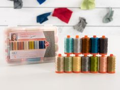 Aurifil 50wt Cotton Thread Angela Walters Designer Favorites Collection - https://diygods.com/products/aurifil-50wt-cotton-thread-angela-walters-designer-favorites-collection/