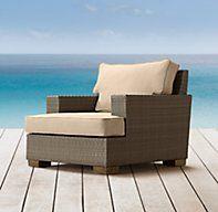 Del Mar Lounge Chair   Ottomans   Restoration Hardware
