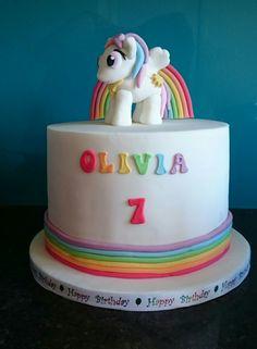 My little pony princess Celestia rainbow birthday cake