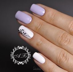 Cute fashion nails Cute nails Delicate spring nails Light purple nails Nails ideas with flowers Nails trends 2018 Painted nail designs Spring nails 2018 Pretty Nail Designs, Colorful Nail Designs, Nail Designs Spring, Nail Art Designs, Accent Nail Designs, Simple Nail Designs, Cute Nails, Pretty Nails, My Nails