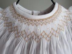 Simple Elegance Smocked Bishop Dress. $40.00, via Etsy.