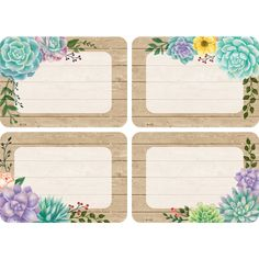Rustic Bloom Name Tags/Labels - Multi-Pack Student Portfolios, Name Tags, First Day Of School, Cubbies, Happy Planner, Classroom Decor, Gift Tags, Badge, Bloom