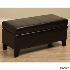 Warehouse Tiffany Ariel Faux Leather Storage Bench  Coffee Table * Be sure to check out this awesome product.