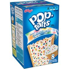 Kellogg's Pop-Tarts Frosted Confetti Cupcake Toaster Pastries, 8 count, 14.1 oz