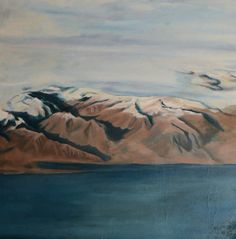 Iceland II (68 x 68 cm) Landscape from the aeroplane. FOR SALE 265 EUR