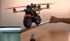 Flying motorcycle the LEGO Bike & KK2.0 FW V1.0 Board Gyro PI