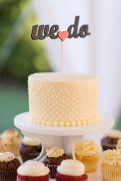 Single Tier Buttercream Cake | Katelyn James Photography | TheKnot.com