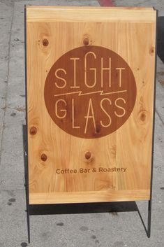 Nice wooden A-frame sign.