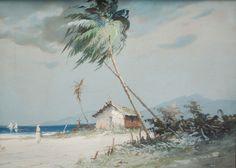 REINALDO MANZKE - (1906 - 1980)    Título: Pescadores  Técnica: guache  Medidas: 20 x 28 cm  Assinatura: canto inferior esquerdo
